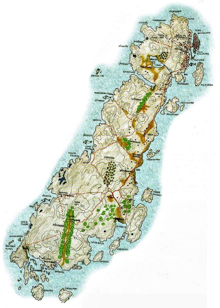 Ritad karta Härmanö